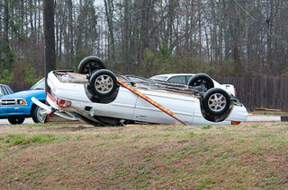 Overturned Car Auburn Alabama