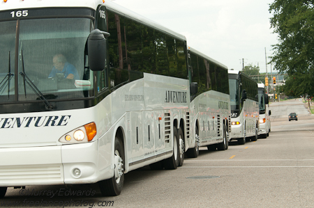 Buses at Alabama State Capitol