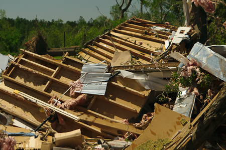 Destroyed Mobile Home
