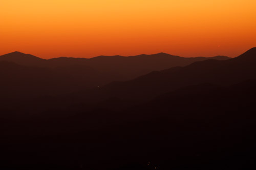 Sunset in the Blue Ridge Parkway